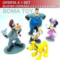 Adorno Decorar Torta Mickey Mouse Club House X5 O X6 Envio