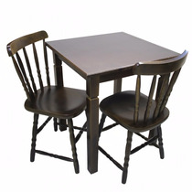 Jogo Mesa Madeira C/ Cadeiras Estilo Country | Mesa 70 Cm