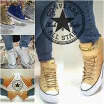 Bota Converse All Star Cuero Plateadas Doradas Y De Colores