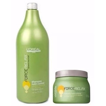 Loréal Force Relax Shampoo 1,5l E Máscara 500g Nutri-control