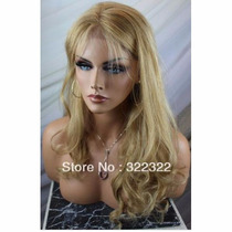Peruca Front Lace 50 Cm Baby Hair Loira Cabelo 100% Humano