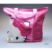 Bolsos Morral Hello Kitty Universitario Playeros Todo Uso