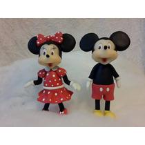 Adorno De Torta Mickey Mouse Y Minnie En Porcelana Fria