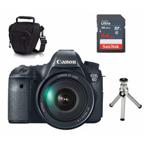 Câmera Canon 6d 24-105mm +capa+tripe+ Sd 64gb Retire Sp 12x!