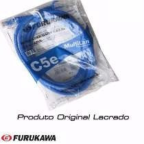 Kit C/ 10 Cabos De Rede Patch Cord 1.5 Metros Furukawa