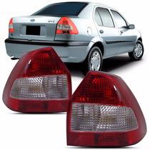 Par Lanterna Traseira Fiesta Sedan Street 2001 2002 2003