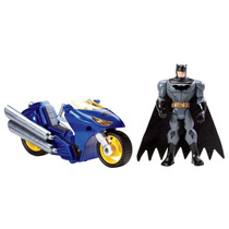 Boneco Batman Mattel Collector Com Moto Y9114/y9117