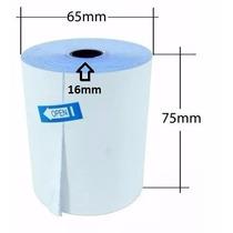 Caja De 25 Rollos, Papel Quimico 75 X 65 X 16mm Con 1 Copia