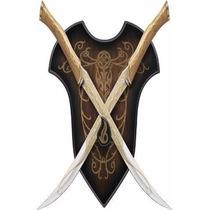 Espada Legolas Senhor Dos Aneis Dupla Com Suporte Original