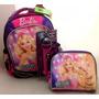 Kit Escolar Barbie Original: Mochila M Costas + Lancheira