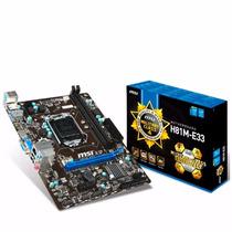Motherboard Msi H81m-e33 Intel 1150 Hdmi Usb 3.0 Envio