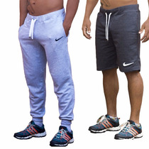 Calça + Shorts Masculino Nike Moletom Fitness Esporte