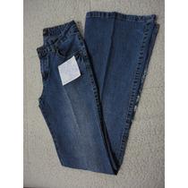 Pantalón Dama Jean Oxford, Detalles Bordados. Talla 36