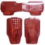 Cubre Piso Metalizado Rojo 3 Piesas