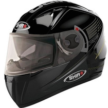 Casco Integral Doble Visor Shiro Sh 3700 R15 Black Fas Motos