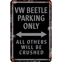 Carteles Antiguo Chapa 60x40 Parking Only Vw Beetle Pa-48