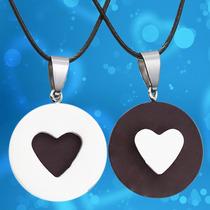 Collar Corazón Galleta Oreo Novios Pareja Amigo Envío Gratis