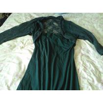 Vestido Corto Color Verde, Con Encaje, Moda Asiatica!!