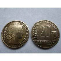 Lote De 14 Monedas Argentinas De1950 De 20 Centavos Torito