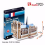 Quebra Cabeça Puzzle 3d Notre Dame Paris Brinquedo Hobbie