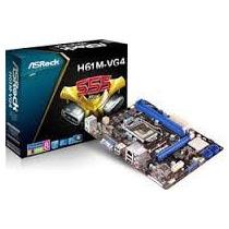 Placa Mãe 1155 Asrock H61m-vg4 S/v/r P/ Intel I3/i5/i7