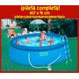 Pileta De Lona Intex 457 X 91 Cm - 10681 Lts Combo Completa!