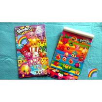 6 Block De Estampas Shopkins Dulcero Recuerdo Bolo Piñata