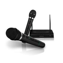 Kit 2 Microfonos Inalambricos Profesionales + Receptor 6.3mm