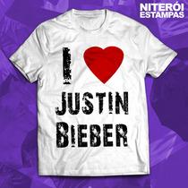 Camisa Justin Bieber - Vários Modelos (poliéster)