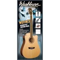 Violão Washburn Wd10ce Acoustic Guitar Pack - Com Garantia