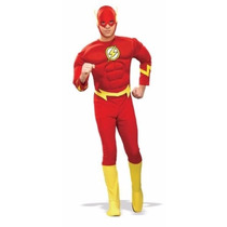 Disfraz Rubies Flash Muscle Chest Adult Superhero Costume