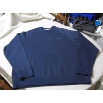Poleron Polar Nike Talla L Color Azul Impecable