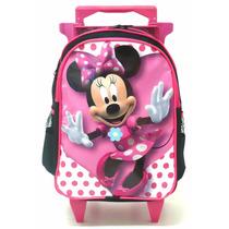 Mochila Minnie Mouse Rodinhas Infantil Tam M Meninas