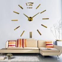 Relógio De Parede Espelhado Grande Decorativo Sala Dourado