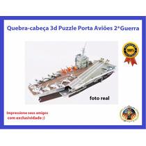 Miniatura Navio Porta Avião 2 Guerra Quebra-cabeça 3d Puzzle
