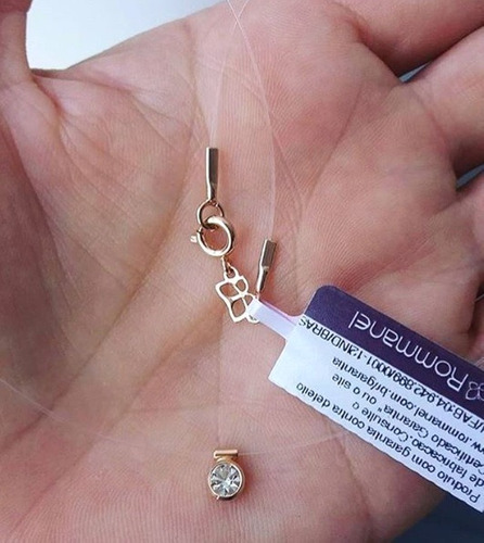 Gargantilha Nylon Com Ponto De Luz Dourado Rommanel 531837 - R  62,00 em  Mercado Livre 8aadb3d98e