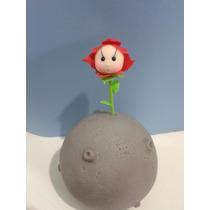 La Flor Y El Planeta En Porcelana Fria