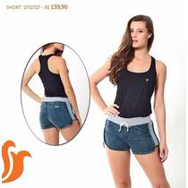 Roupas Femininas/ Short Jeans Jegging Com Moletom Handara