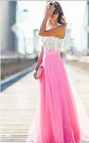 Vestido largo vaporoso boda