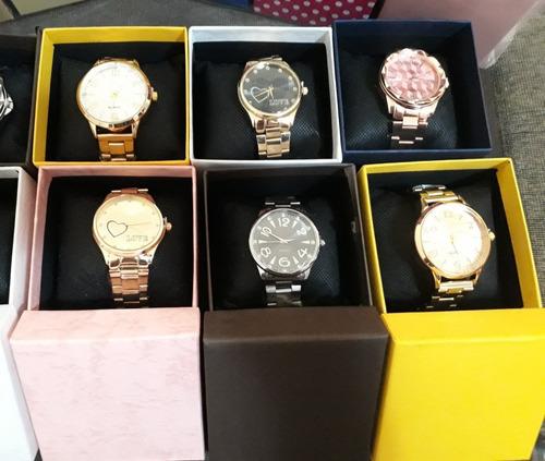 f510c710d8d Kit Com 10 Relógios Feminino+caixas Atacado Lote Revenda - R  190