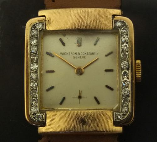 e4110490953 Relogio Vacheron   Constantin 48 Pt Diamante Ouro 18k J20000 - R  5.499