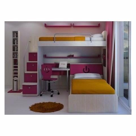 Camas infantiles con escritorio camas infantiles con for Muebles infantiles juveniles