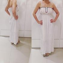 Vestido Largo Fresco Tipo Bambula Futura Mama Embarazada