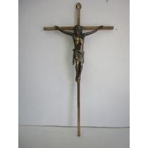 Crucifijo De Bronce Solido Hecho En Alemania - Vintage
