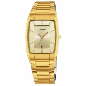 bb87ecdb0164a Relógio Technos Unisex Masculino Dourado Slim Gm10il 4x - R  250,00 ...