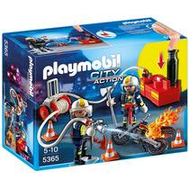 Playmobil Bombero Con Bomba De Agua 5365 Playset 4 A 10 Años