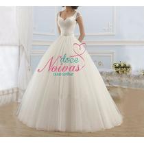 Vestido Noiva Alça Barato Pronta Entrega