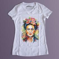 Playera Minko - Frida Khalo - Excelente Calidad V. Modelos