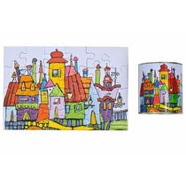 Rompecabezas Puzzle De 24 Piezas Casitas 16x24cm