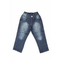 Calça Jeans Bebê Meninos Masculino Tamanho 01 / 02 / 03 Anos